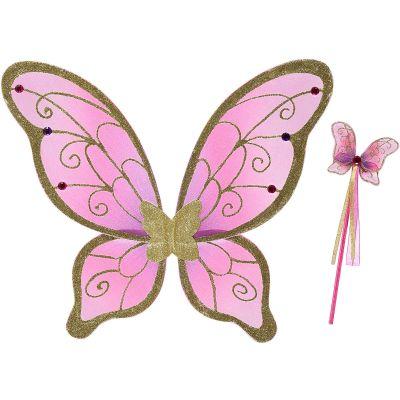 Ailes et baguette de fée papillon rose  par Travis Designs