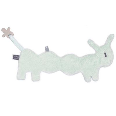 Doudou attache sucette Freddy Frolic Misty Green (33 cm) Snoozebaby