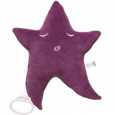 Peluche musicale étoile violette (4 mélodies au choix) Pouce et Lina