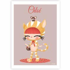 Affiche A3 Les adorables costumés Le chat (personnalisable)