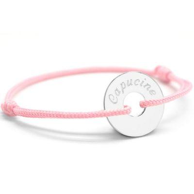 Bracelet cordon maman Petite Chérie (argent 925°)  par Petits trésors