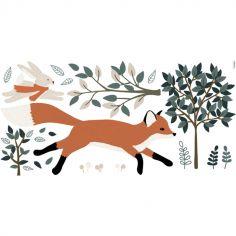 Planche de stickers M Fox en forêt