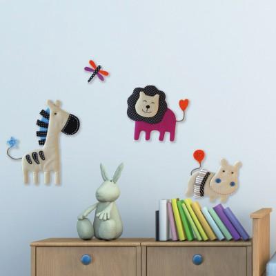 stickers en tissu animal nature babytolove. Black Bedroom Furniture Sets. Home Design Ideas