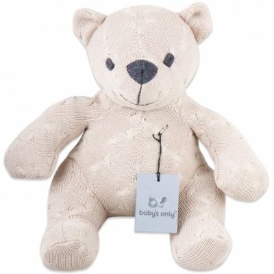 Peluche ourson Cable Uni beige (35 cm) Baby's Only