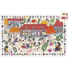 Puzzle d'observation L'école des hérissons (35 pièces)