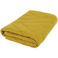 Couverture en coton Bliss Mustard (75 x 100 cm)