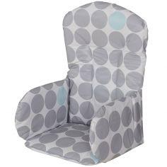 Coussin de chaise haute PVC Pois (26 x 27 x 40 cm)