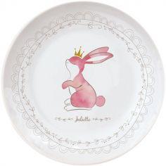 Assiette en porcelaine Lapin (personnalisable)