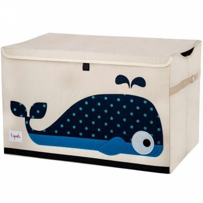 Coffre à jouets caisse de rangement Baleine  par 3 sprouts