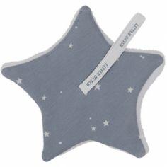 Doudou attache sucette Little stars blue (15 x 15 cm)