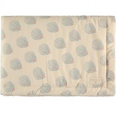 Mini couverture bébé Blue Gatsby Cream (70 x 70 cm)