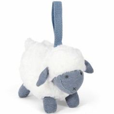 Peluche à suspendre Welcome to the World mouton bleu