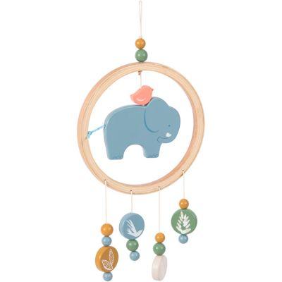 Attrape-rêves éléphant Sous mon baobab  par Moulin Roty