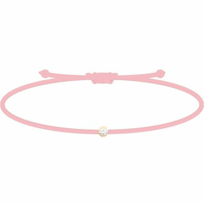 Bracelet diamant Mon Petit Diam's rose clair (plaqué or jaune) My First Diamond