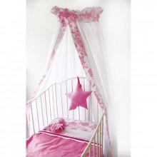 Ciel de lit bb papillon rose toile cottonbaby - Ciel de lit papillon ...