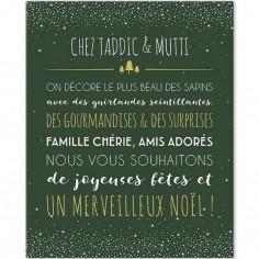 Tableau Noël vert personnalisable (33 x 41 cm)