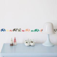 Frise adhésive Eléphants multicolore (5 m)