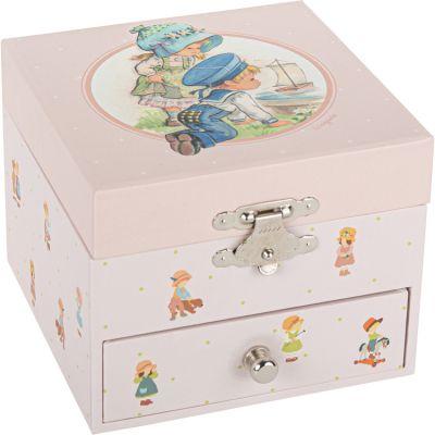 Boîte à bijoux musicale bateau sur l'eau Mémoire d'enfance Jeanne Lagarde  par Trousselier