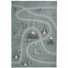 Tapis rectangulaire Little western (100 x 140 cm)