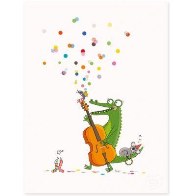 Affiche Jazzy (30 x 40 cm)  par Série-Golo