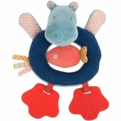Hochet anneau hippopotame à pattes Les Papoum - Moulin Roty