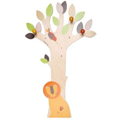 Porte-manteau mural arbre Les Papoum  par Moulin Roty