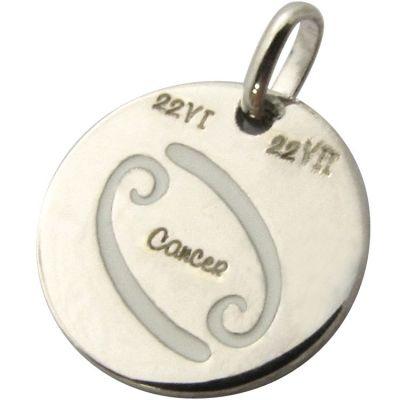 Médaille signe Cancer 14 mm (argent 925°)  par Martineau