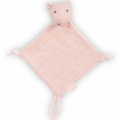 Doudou attache sucette hippopotame tricot pêche