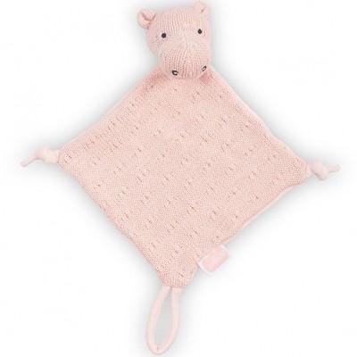Doudou attache sucette hippopotame tricot pêche  par Jollein