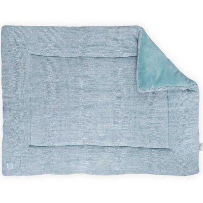 tapis de jeu melange knit vert d 39 eau 80 x 100 cm jollein. Black Bedroom Furniture Sets. Home Design Ideas