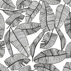 Papier peint motif feuillage (10 m)