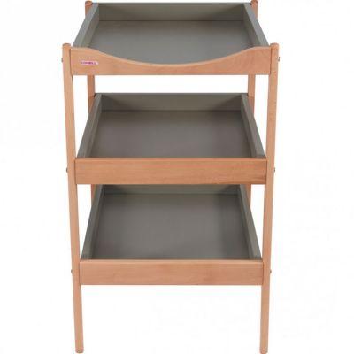 Table à langer en bois Susie 3 plateaux Hybride gris