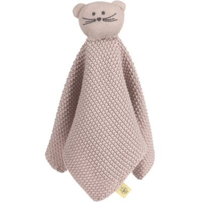 Doudou plat tricoté en coton bio Little Chums souris  par Lässig