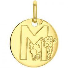 Médaille M comme mouton (or jaune 750°)  par A.Augis