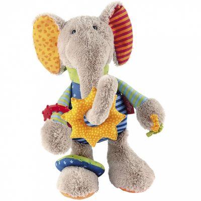 Peluche d'activités éléphant (27 cm) Sigikid