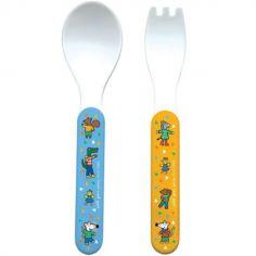 Cuillère + fourchette Mimi la Souris