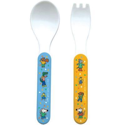 Cuillère + fourchette Mimi la Souris Petit Jour Paris