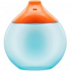 Gourde d'apprentissage Fluid bleu et orange