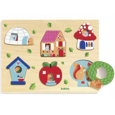 Puzzle à encastrement Coucou-house (6 pièces) Djeco