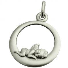 Médaille Ange endormi 18 mm (argent 925°)