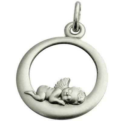 Médaille Ange endormi 18 mm (argent 925°)  par Martineau