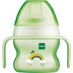 Tasse à bec souple arc-en-ciel vert (150 ml)