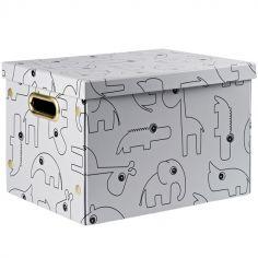 Boîte de rangement pliable Contour gris