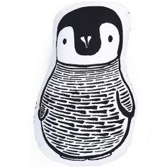 Coussin Pingouin points noirs (20 x 15 cm)