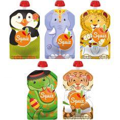 Pack de 5 gourdes réutilisables Carnaval (130 ml)