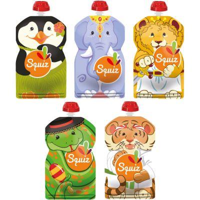Pack de 5 gourdes réutilisables Carnaval (130 ml)  par Squiz