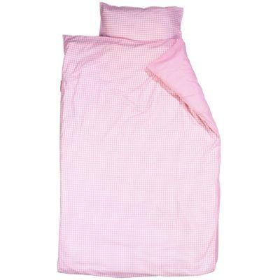 Housse de couette et taie d'oreiller Vichy rose (100 x 135 cm)  par Taftan