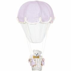 Lampe montgolfière parme et blanc