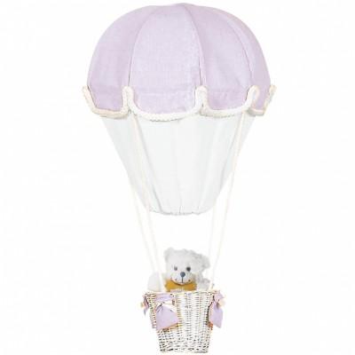 Lampe montgolfière parme et blanc   par Domiva