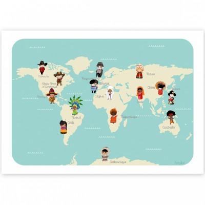 Affiche A4 Le monde des enfants  par Kanzilue